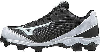 (MIZD9 Boys' 9-Spike Advanced Franchise 9 Molded Youth Baseball Cleat-Low Shoe, Black/White, 1.5 US Little Kid