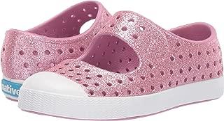 Native Kids Shoes Girl's Juniper Bling (Toddler/Little Kid) Watercolor Pink Bling Glitter/Shell White 6 Toddler