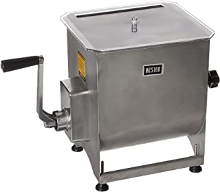 Weston Stainless Steel Meat Mixer, 44-Pound Capacity , Removable Mixing Paddles
