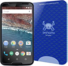 Skinomi Tech Glass Screen Protector Compatible with Google Nexus 6 9H Hardness Clear HD Ballistic Tempered Glass Shield