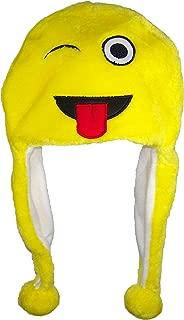 Best Winter Hats Plush Emoji Ear Flap Beanie W/Fleece Lining (One Size)