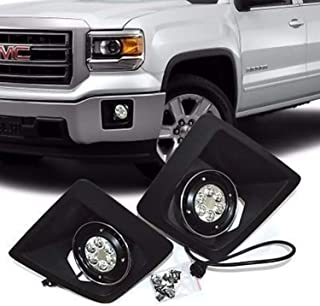 RP Remarkable Power, FL7087 Fit For 2014 2015 2016 Sierra 1500 LED Fog Lights Bumper Lamps Set NEW