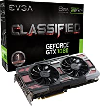 EVGA GeForce GTX 1080 CLASSIFIED GAMING ACX 3.0, 8GB GDDRX, RGB LED, 10CM FAN, 14 Power Phases, Double BIOS, DX12 OSD Supp...