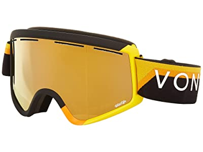 VonZipper Cleaver Goggle (20th Black Yellow Gloss/Wild Bronze Flash Lens) Snow Goggles