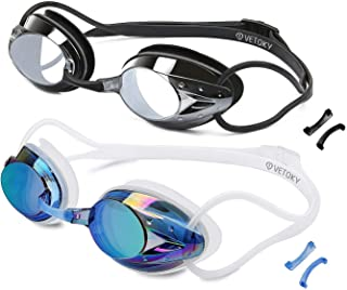 VETOKY Swim Goggles, Anti Fog Swimming Goggles UV...