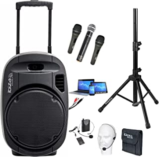 PORT12VHF-MKII 700w SYSTÈME DE SONORISATION PORTABLE AUTONOME - USB-MP3 BLUETOOTH - 4 MICROS Fil et sans fil VHF - Pa Sono...