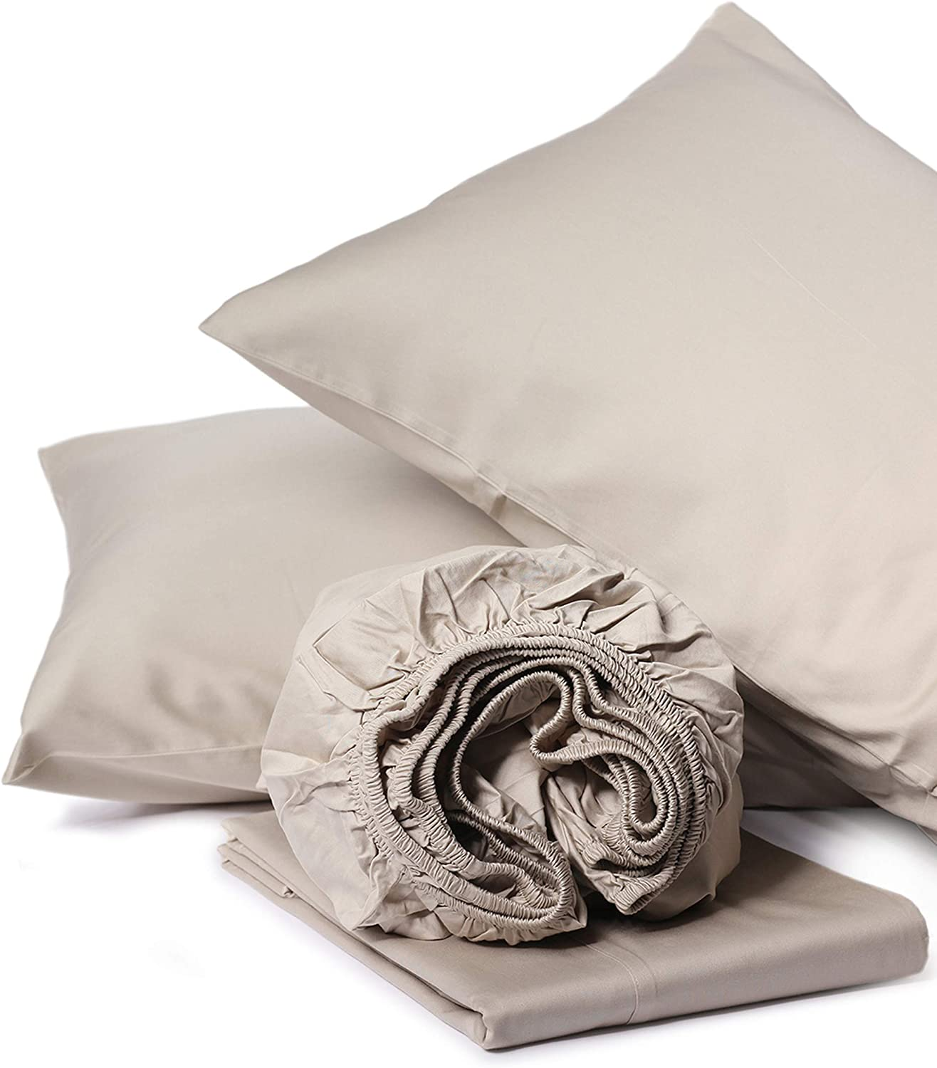 100% Organic Cotton King Sand Sheet Sateen Piece 3 Weave Max 60% OFF Max 78% OFF 4 Set