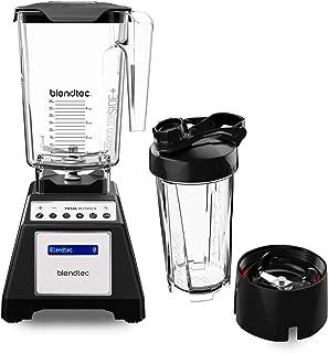 Blendtec Designer Series WildSide (90 oz) GO Travel Bott Countertop Blender, 90oz/34oz, WildSide & Go Jars Black