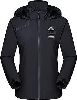 MAGCOMSEN Women's Hooded Lightweight Windbreaker Jacket Sun Protect Windproof Jacket Outdoor Running Top