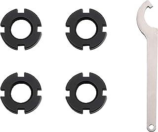 New Direction Tackle Versión negra Tuerca direccional universal (4 PCS Negro) para alarma de mordida