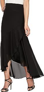 Alex Evenings Women's Tea Length Chiffon High-Low Skirt
