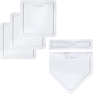 Franklin Sports Thrown Down Baseball Bases with Home Plate and Pitcher's Rubber..