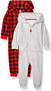 Amazon Essentials Baby 2-Pack Microfleece Hooded Coverall