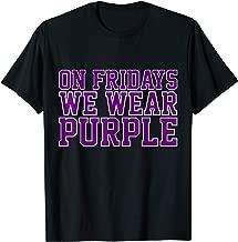 On Fridays We Wear Purple High School Football Team Pride T-Shirt