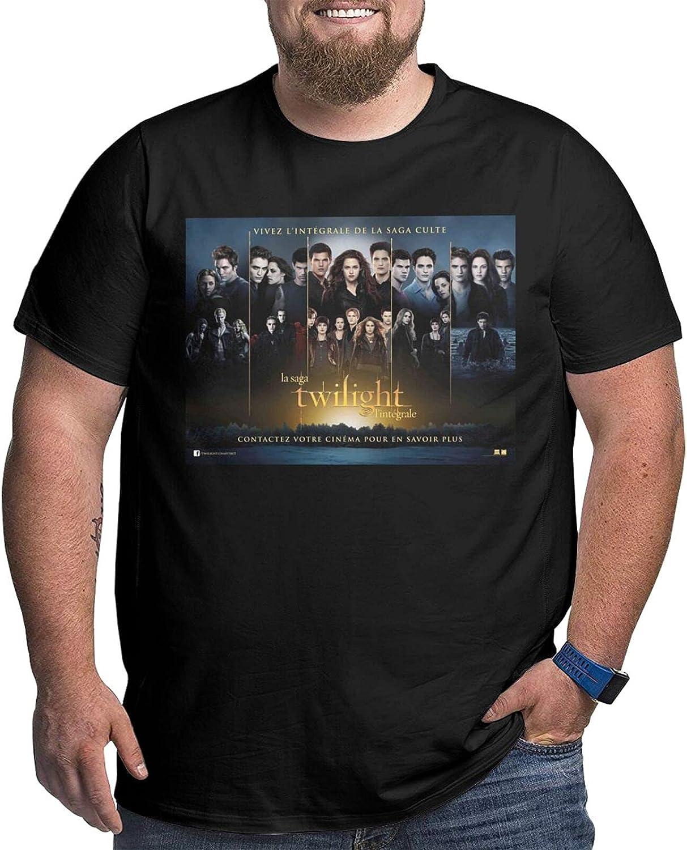 lwufnok The Twilight Saga Big Size Men's t-Shirt Round Neck Short Sleeve T-Shirt