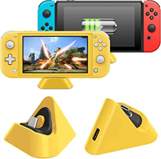 Charging Dock for Nintendo Switch Lite and for Nintendo Switch, Compact Charger Stand Station with Type C Port Compatible ...