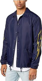 Jaywalker Men's Lightning Graphic-Print Coach Jacket