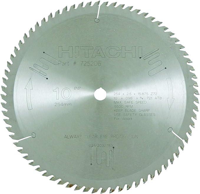 Metabo HPT 725206M 72-Teeth Miter Saw Blade – Best 10-inch Miter Saw Blade