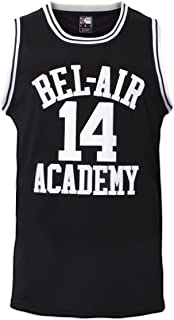 Smith #14 Bel Air Academy Black Basketball Jersey S-XXXL, 90S Clothing for Men, Stitched Letters and Numbers