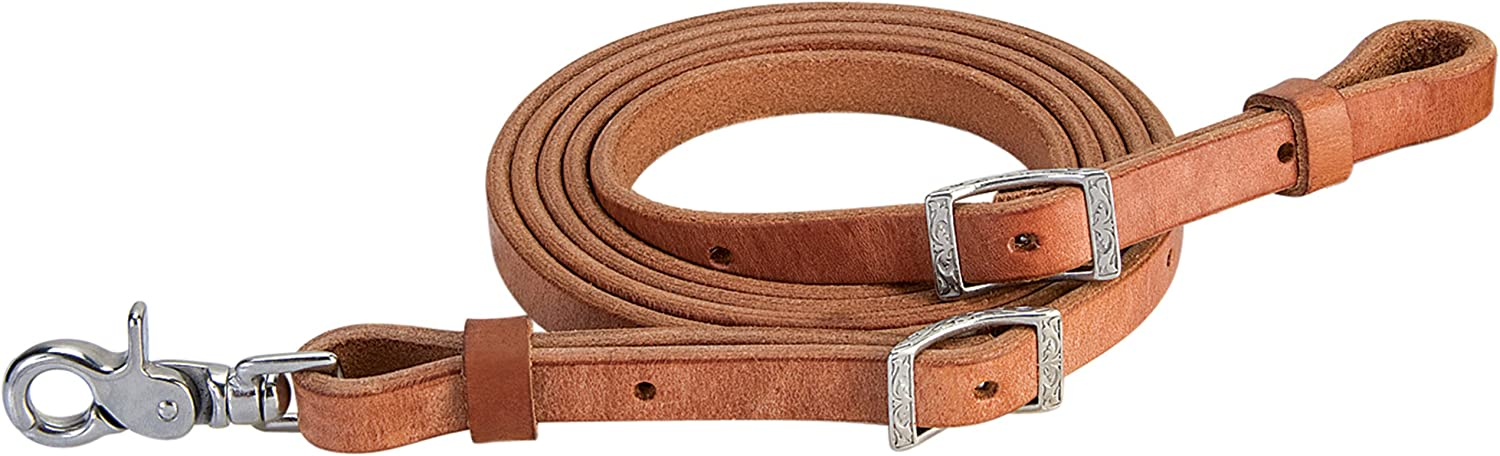 Weaver Leather Harness Leather Roper Rein, 5 8Inch x 8Feet, Russet