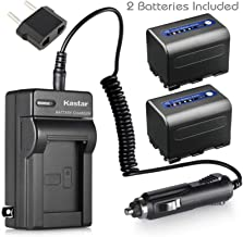 Kastar Battery 2-Pack + Charger for Sony NP-QM71D NP-FM50 NP-QM71 NP-FM70 NP-FM90 and CCD-TRV328 338 DCR-DVD300 301 DCR-HC14 DCR-PC105 330E TRV22 TRV24 TRV25 DCR-TRV70 DCR-TR80 DCR-TR250 DCR-TR260