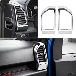 Voodonala Chrome Dashboard Air Condictioning Outlet Vent Decorative Trim Ford F150 2015 2016 2017