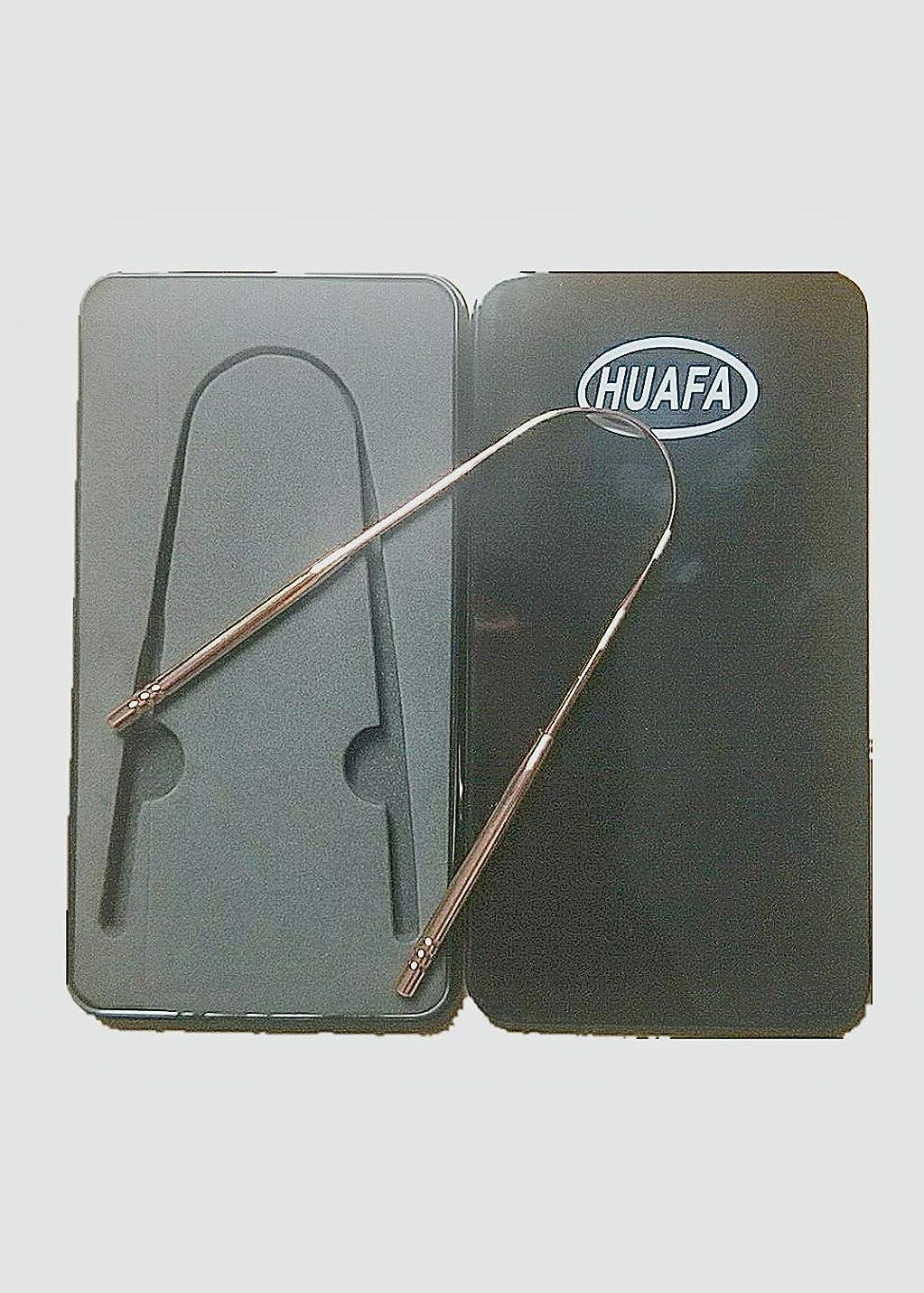 強盗差し迫った再編成する[HUAFA]舌ブラシ、舌クリーナー、口腔クリーナー、口臭防止、抗菌素材