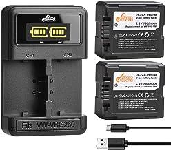 VW-VBG130,Pickle Power Battery (X2) and LED Slim USB Charger for Panasonic VW-VBG070, VW-VBG130, VWVBG260 and SDR-H40, SDR...