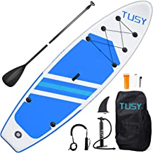 TUSY Stand Up Paddle Board Inflatable SUP Blow Paddle Boards 10.6', Accessories with Backpack, Non-Slip Deck, Adjustable P...