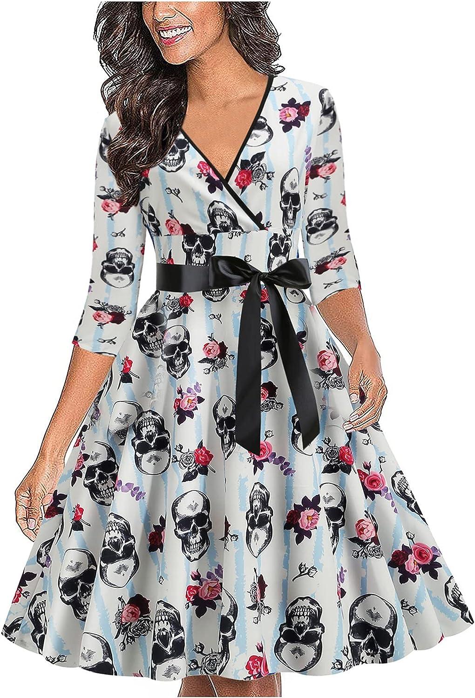 Dresses for Women Autumn Winter Halloween Costumes Cosplay Sleev