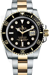 Submariner Stainless Steel Yellow Gold Watch Diamond Dial 116613