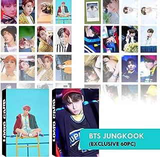 BTS Photocard Set | Jungkook Photocards for Army Fans | Bangtan Boys BTS Postcards, BTS Greeting Card, BTS Picture Card | eKoi BTS Lomo Card KPOP Merchandise - 2 Pack 60 PC