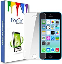 POPIO Tempered Glass Screen Protector For Apple iPhone 5 / 5S / SE (Transparent) Edge to Edge Full Screen Coverage With Installation Kit