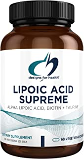 Designs for Health Lipoic Acid Supreme - 300mg Alpha Lipoic Acid with Biotin + Taurine - Vegetarian, Non-GMO ALA Supplemen...