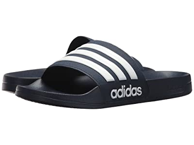 adidas Adilette Shower (Navy/White/Navy) Men