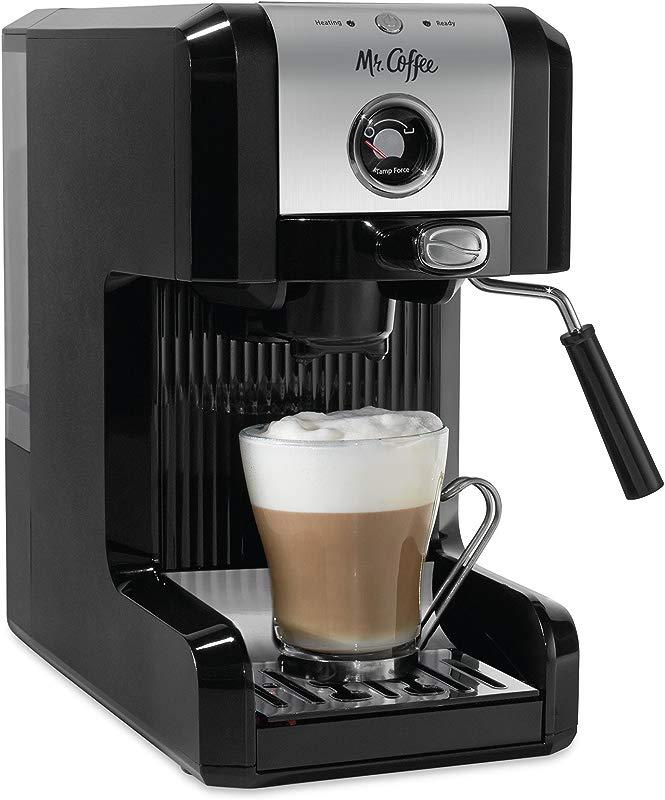 Mr Coffee BVMC ECMPT1000 Easy Maker Authentic Pump Espresso Machine Black 6 Piece Chrome