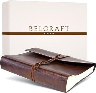 Belcraft Tivoli Album Fotografico in Pelle Riciclata, Album Portafoto, Scrapbook, Realizzato a Mano da Artigiani Toscani, ...