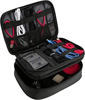 ProCase Electronics Travel Organizer Storage Bag, Double Layer Universal Traveling Gear Accessories Carrying Case Pouch fo...