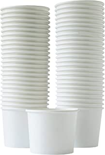 Paper Ice Cream Cups - 50-Count 11-Oz Disposable Dessert Bowls for Hot or Cold Food, 11-Ounce Party Supplies Treat Cups for Sundae, Frozen Yogurt, Soup, White