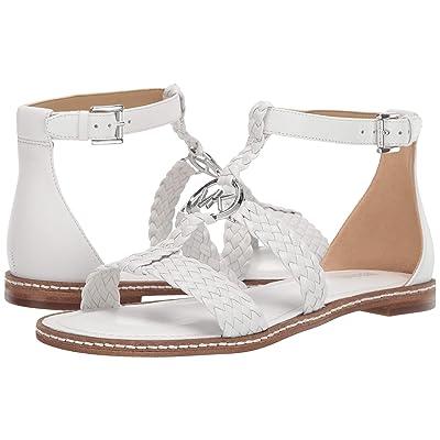 MICHAEL Michael Kors Piper Flat Sandal (Optic White) Women