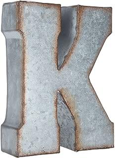 Generic Galvanized Metal 3D Letter K,Grey Metal