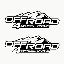 Autodomy Pegatinas 4x4 Off Road 4 Wheel Drive Todoterreno Pack 2 Unidades para Coche (Negro)