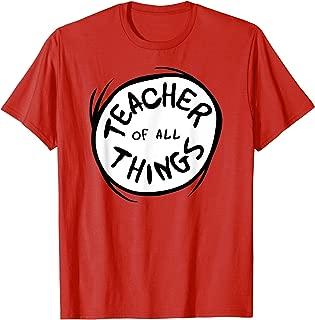 Teacher of all Things Emblem RED T-shirt