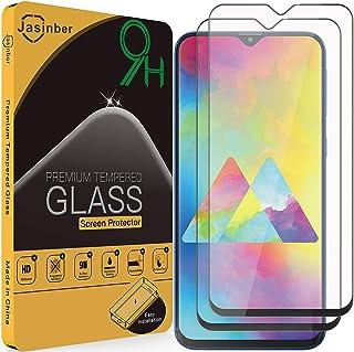 Jasinber 2-Pack Mica Vidrio Cristal Templado Protector de Pantalla para Samsung Galaxy M20 (Negro)