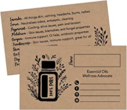 25 Rustic Essential Oils Business Cards, For Marketing Supplies, Tools, Brochures, Accessories, Planner, Book Mark with Oil Reference Instructions, Party Thank You Gift Favors