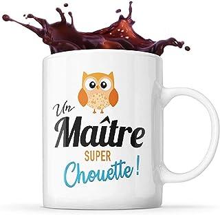 Mug Life Mug Maitre Cadeau de Fin d'Année pour « Un maitre Super Chouette » | Résistant au Lave-Vaisselle et Micro-Ondes |...