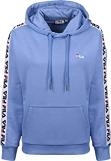 FILA Women's Clara Hoodie Sweatshirt, Blue (Marina), X-Large