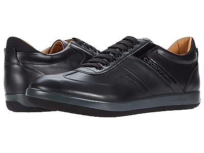 Emporio Armani Classic Leather Sneaker (Black) Men