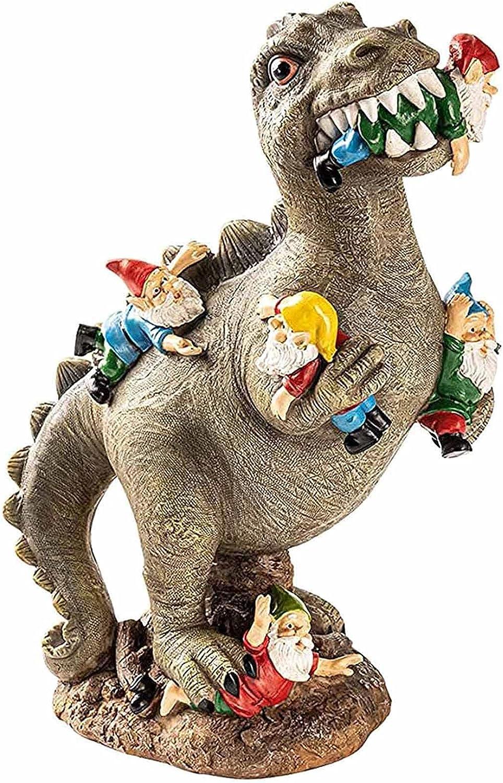 HOMRanger Dinosaur Eating SALENEW大人気 Gnomes ストアー Sculpture Garden Statue