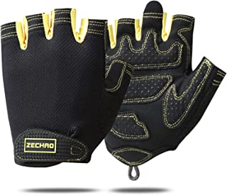 Men & Women bicycle Gloves Half Finger Cycling Mountain Bike Road Bike Gloves-Anti-Slip Shock Absorbing Gel Pad Breathable...